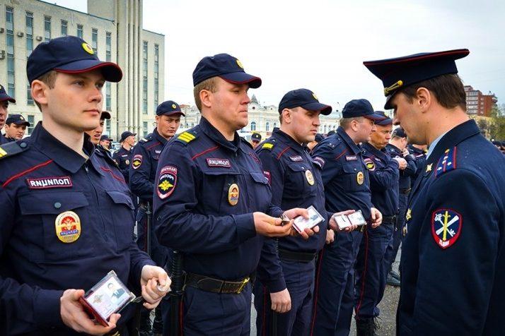 Курсанты полицейских вузов